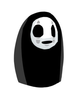Noh Face - Spirited Away by sketchbeetle