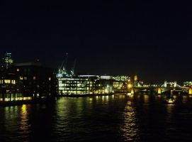 Thames at Night by Cszemis