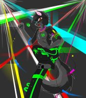 Smokey .:raver:. by KiaTheWolf
