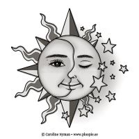 SunMoonStars Tattoo by Ploopie