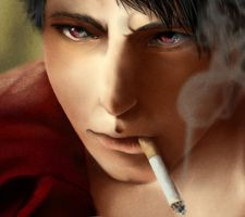 Dante close up by AriaWho