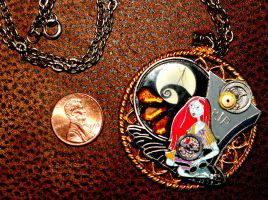 Disney Nightmare Christmas Steampunk Sally Pendant by elllenjean