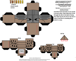Tremors the movie Graboid Cubee template 2 by lovefistfury