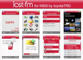 Last.fm for K800 by toyotaTRD