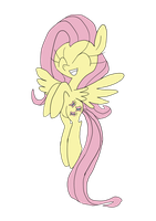 Fluttering Fluttershy by WaggonerCartoons