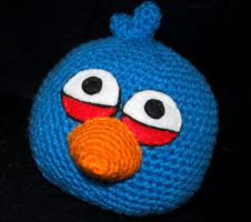 Blue Angry Bird Plush by rainbowdreamfactory