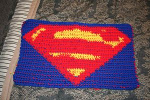 Superman logo in crochet by phoenixcrochet