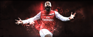 Arsenal Legend: Thierry Henry by tedioart