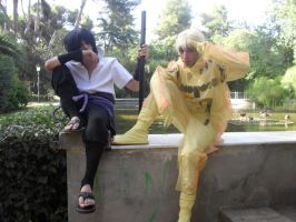 Naruto and Sasuke by Naruto-Cosplay-Cadiz