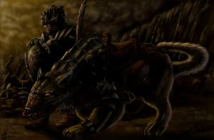 The Warg and its jockey by sboterod
