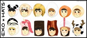 EXO and Hats by virinn
