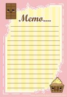 Sweet Like Chocolate-Memo Pad by QuirkishDelight