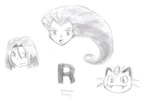 Team Rocket Headshots by DrChrisman