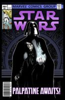 Palpatine Awaits! Mock Marvel Star Wars cover by Hodges-Art