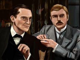 Holmes and Watson by cavatappimonster