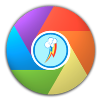 Rainbow Dash Icon for Google Chrome by Suriander