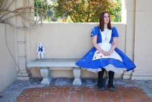 Alice and her Rabbit by Captain-Sparrow