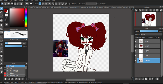 Fnaf. Sisters Location. Human. W.I.P by RosyBonesProductions