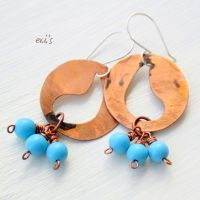 Chandelier Bohemian Earrings with Turquoise by IoannaEvans