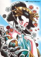 Geisha-demon by ciroshima