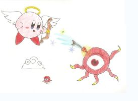Kirby and the Monoeye by Mipoloarchiletti