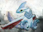 Baby Skarmory by AzureGryphon