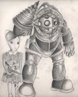 Bioshock Fanart Drawing by diamondskeletons