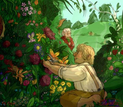 Bilbo's Garden (and Sam) by Cliopadra