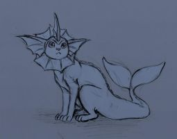 Vaporeon sketch by Freya-007