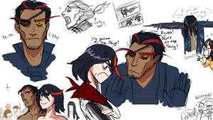 Kill la Kill: H!Senketsu + Ryuko Colour Flats by carrinth
