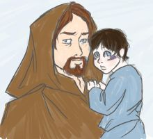 Obi-Wan and Daughter by FlyingOverTheGrass