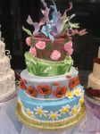 Crazy Flower Cake by leprechaunbabe