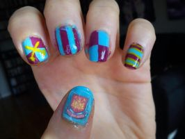 West Ham United Nail Art by EnelyaSaralonde