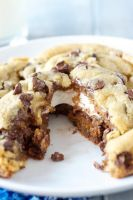 Giant Smores Stuffed Chocolate Chip Cookie by tracylopez
