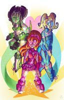 Robot Project: POWERPUFF GIRLS by CorrsollaRobot