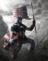 Captain America colored by vic55b