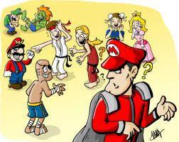 Street fighter Mario Bros by Stopinski