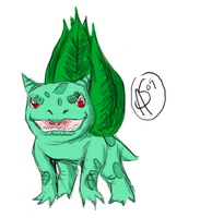 Realistic-style Bulbasaur by XantheStar