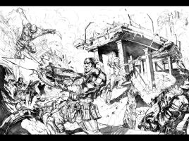 Gears of WAR  -surrounded by Peter-v-Nguyen
