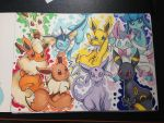 Eeveelutions | Pokemon by LaniKiryu666
