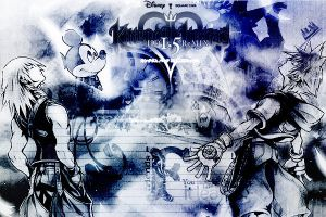 Kingdom Hearts 1.5 Riku Mickey and Sora by LumenArtist