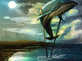 CG Marathon Day 9: Stilt Whale by Tweekt