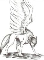 vent winged wolf by Alexthewolfy