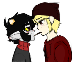 pocky game by queenofdavekat