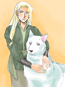 Celegorm and Huan by h-muroto