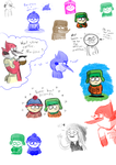 Regular Show and South Park doodles 7 by LotusTheKat