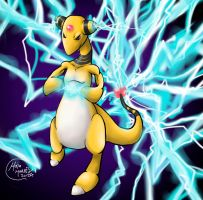 Ampharos Charging its attack! by HavocGirl