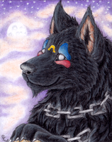 ACEO - Bloodhound omega by Qzurr