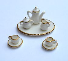 Miniature Tea Set Stock by chamberstock