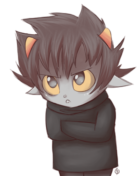 Grumpy Karkat by Raidell